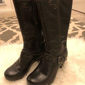 Dansko black midi boots 38